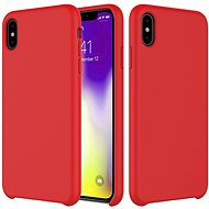 Epico Silicone pro iPhone XS Max  - červený - Kryt na mobil