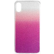 Epico Gradient pro iPhone X / iPhone XS - stříbrný/fialový - Kryt na mobil