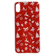 Epico Red Xmas pro iPhone XS Max  - Kryt na mobil