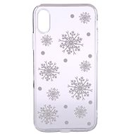 Epico White Snowflakes pro iPhone X / iPhone XS  - Kryt na mobil