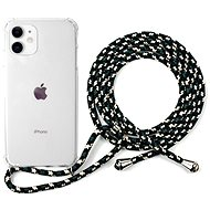 Epico Nake String Case iPhone 11 - bílá transparentní / černo-bílá - Kryt na mobil