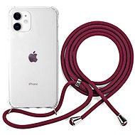 Epico Nake String Case iPhone 11 - bílá transparentní / červená - Kryt na mobil