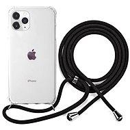 Epico Nake String Case iPhone 11 Pro - bílá transparentní / černá - Kryt na mobil