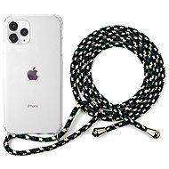 Epico Nake String Case iPhone 11 Pro - bílá transparentní / černo-bílá - Kryt na mobil
