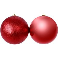 Red Flask, Set of 2 Pieces - Christmas decorations