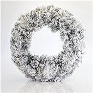 EUROLAMP Přírodní zasněžený věnec 50 cm - Vánoční ozdoby