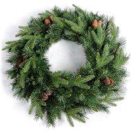 EUROLAMP Zelený dekorativní věnec 61 cm - Vánoční ozdoby