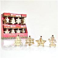 Dřevěné ozdoby, vyřezávané, 9 cm, 1ks - Vánoční ozdoby