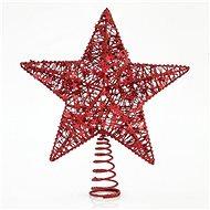 Hvězda na špičku vánočního stromku, červená 30 cm - Vánoční ozdoby