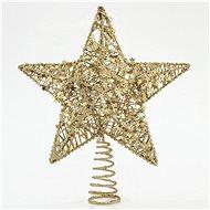 Hvězda na špičku vánočního stromku, zlatá, 30 cm - Vánoční ozdoby
