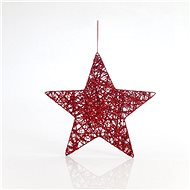 Závěsná hvězda, červená, 25 cm - Vánoční ozdoby