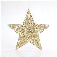 Závěsná hvězda, zlatá, 25 cm - Vánoční ozdoby