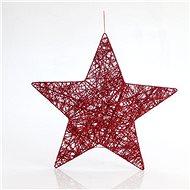Závěsná hvězda, červená, 45 cm - Vánoční ozdoby
