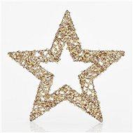 Hvězda, zlatá s glitry, 25 cm - Vánoční ozdoby