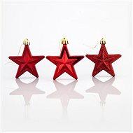 Plastové červené hvězdy, 6,5 cm - Vánoční ozdoby