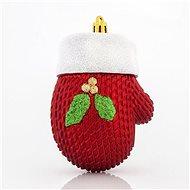 Plastové červené rukavice, 10 cm - Vánoční ozdoby