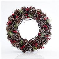 Věnec šišky, 34x34x9 cm - Vánoční ozdoby