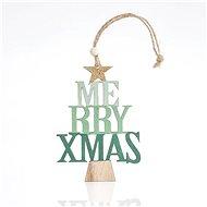 Dřevěný stromek s nápisem, 23x0,5x8 cm - Vánoční ozdoby