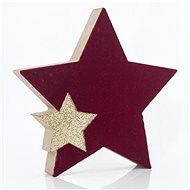 Dřevěná stolní hvězda, 15x2x15 cm - Vánoční ozdoby