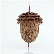 Dřevěný žalud, 12x16 cm - Vánoční ozdoby
