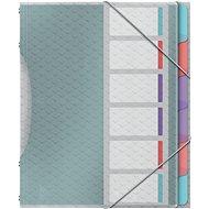 ESSELTE Colour'Ice 6 listů, třídící - mix barev - Desky na dokumenty