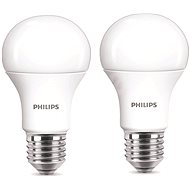 Philips LED 9-60W E27, 2700K, Mléčná, set 2ks - LED žárovka