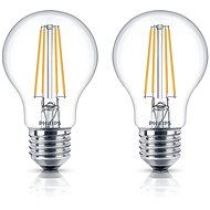 Philips LED Classic Filament Retro 6-60W, E27, 2700K, čirá, set 2ks - LED žárovka