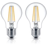Philips LED Classic Filament Retro 6-60W, E27, 2700K, clear, 2pcs - LED bulb