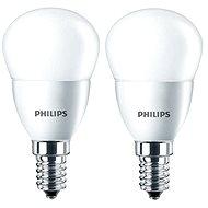 Philips LED kapka 5.5-40W, E14, 2700K, matná, set 2ks - LED žárovka