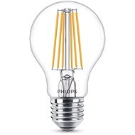 Philips LED Classic Filament 8-60W, E27, čirá, 2200-2700K - LED žárovka