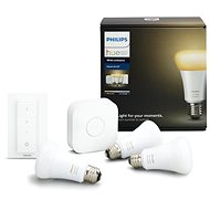 Philips Hue White Ambiance 8.5W E27 Starter kit - LED žárovka