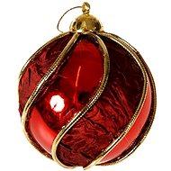 EverGreen Koule Retro pr. 10 cm, červená - Vánoční ozdoby