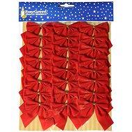 EverGreen Mašle samet x 24, 5,5 x 5,5 cm, červená - Vánoční ozdoby