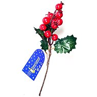 EverGreen Groove with berries, 3 leaves, 20cm, green-red