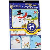 EverGreen Popisky na dárky x54, 24x15 cm, vícebar. - Vánoční ozdoby