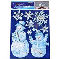 EverGreen Okenní dekorace glitter 41x28, bílá - Vánoční ozdoby