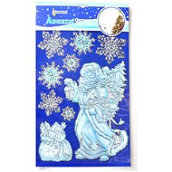EverGreen Window decoration relief 50x30, silver-gold