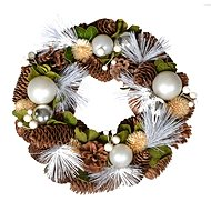 EverGreen Věnec šišky a koule pr. 29 cm, natural - Vánoční ozdoby