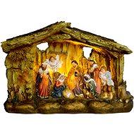 EverGreen Betlém svítící,3x LED, 21x8x14, vícebar. - Vánoční ozdoby