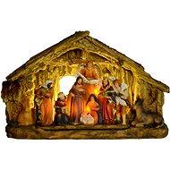 EverGreen Betlém svítící,5x LED, 29x9x18, vícebar. - Vánoční ozdoby