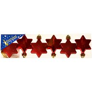EverGreen Hvězda 3l.+3m. v. 4,5 cm  - Vánoční ozdoby