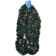 EverGreen® Chain width 9 cm with berries, length 600 cm, colour dark green - Christmas decorations