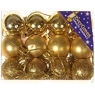 EverGreen® Koule x 24 ks, průměr 3 cm, barva zlatá - Vánoční ozdoby