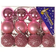 EverGreen® Sphere x 24 pcs, diameter 3 cm, colour pink - Christmas decorations