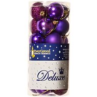 EverGreen® Baubles x 24 pcs, diameter 4cm, Purple Colour - Christmas decorations