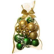 EverGreen® Koule x 16 ks, různé, pr .6 cm, barva zeleno-zlatá - Vánoční ozdoby