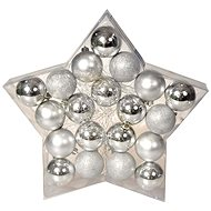 EverGreen® Koule x 20 ks, 3 druhy, průměr 6 cm, barva stříbrná - Vánoční ozdoby