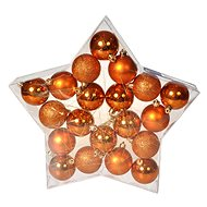 EverGreen® Sphere x 20 pcs, 3 types, diameter 6 cm, copper colour - Christmas decorations