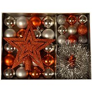 EverGreen® Collection 33-piece LUX, colour copper-silver - Christmas decorations
