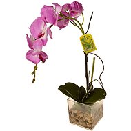 EverGreen® Orchid in glass with acrylic, height 56 cm, colour purple - Christmas decorations